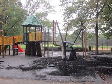 Playground torched