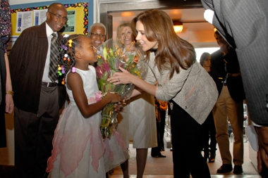 Crown Princess of Denmark visits Queens