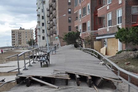Mayor Michael Bloomberg said the Rockaways wooden boardwalk will be rebuilt with concrete.