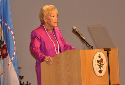 Borough President Helen Marshall, in her final State of the Borough address, commended first responders during Sandy for their heroic efforts that lasted long after the storm.