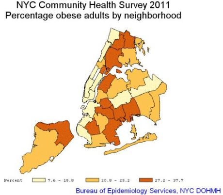 Queens ranks fourth of five boros in obesity