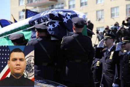'Hero' cop mourned at Far Rockaway funeral