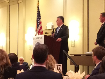 Rep. King discuses homeland security over JFK Airport Chamber of Commerce breakfast