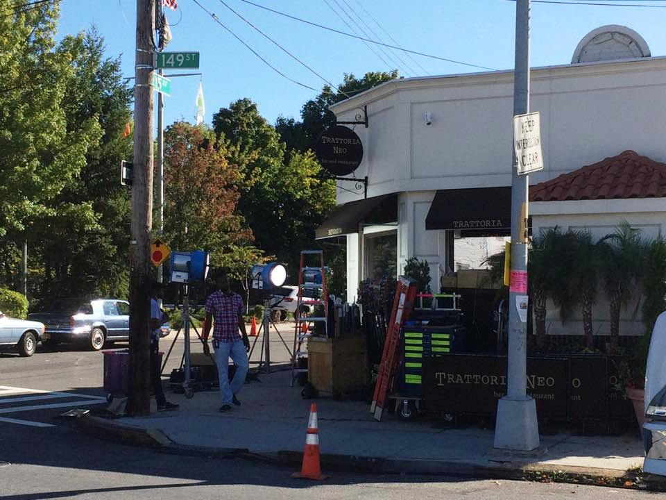 HBO miniseries film crew spotted in Whitestone using Italian restaurant