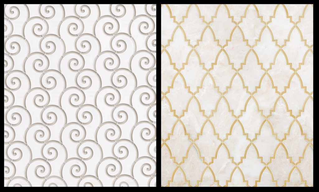 Queens Tiles Unlimited Water Mosaic designs