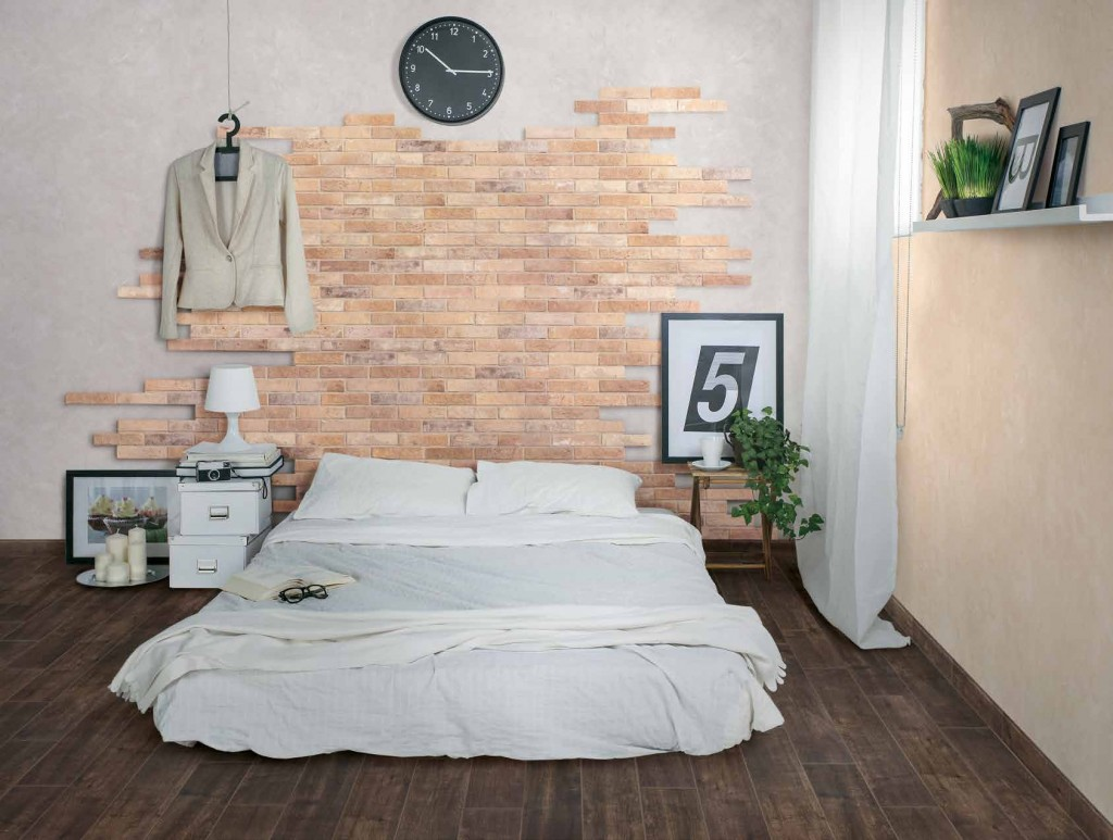 Queens Tiles Unlimited's cutting-edge Brick-Look Tile adds a touch of urban flair to your space