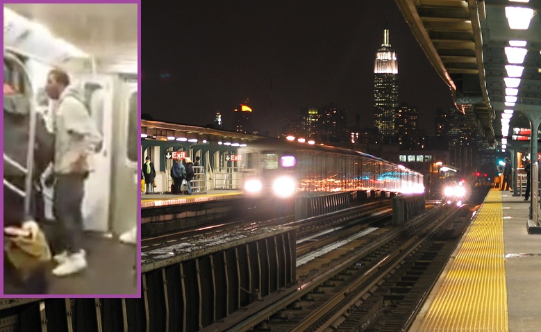 Man punches a bystander who he believed filmed a fight on board a train in Sunnyside