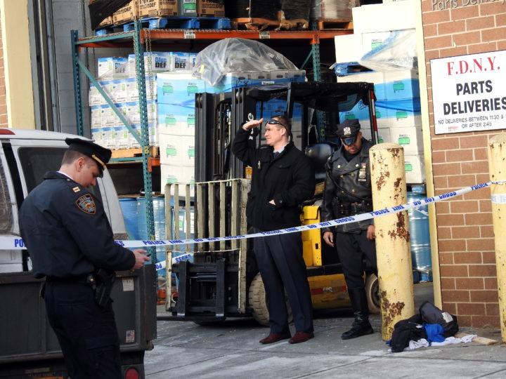 Forklift driver is fatally crushed in a freak accident at a Long Island City warehouse