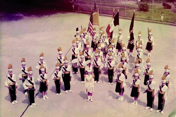 The Our Lady of the Miraculous Medal Orbits marching band are pictured in the OLMM School yard in Ridgewood. (File photo)