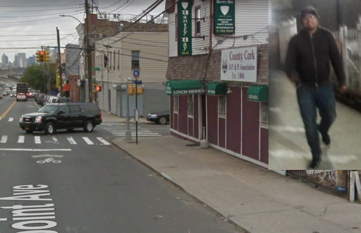 Cash reward offered for help in finding this creep who flashed a woman in Long Island City