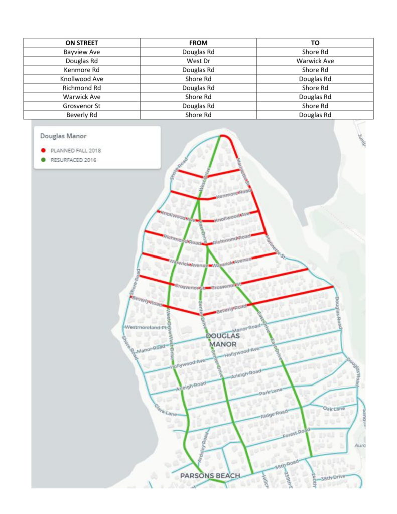 Douglas Manor Streets Resurfacing Map-1