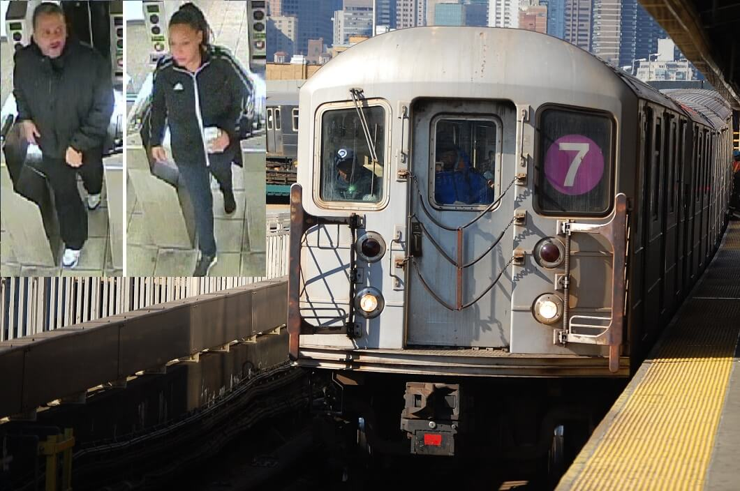 Armed pair who robbed man and forced him off the 7 train in Sunnyside remains on the lam
