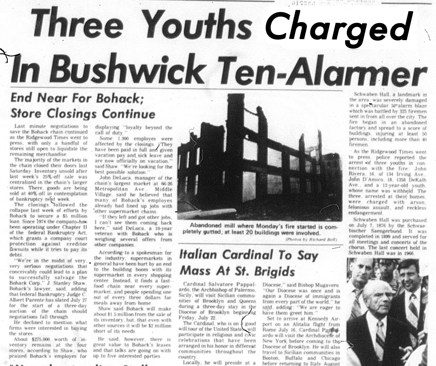 Huge fire made Ridgewood Times headlines in the sweltering summer of '77: Our Neighborhood, The Way it Was