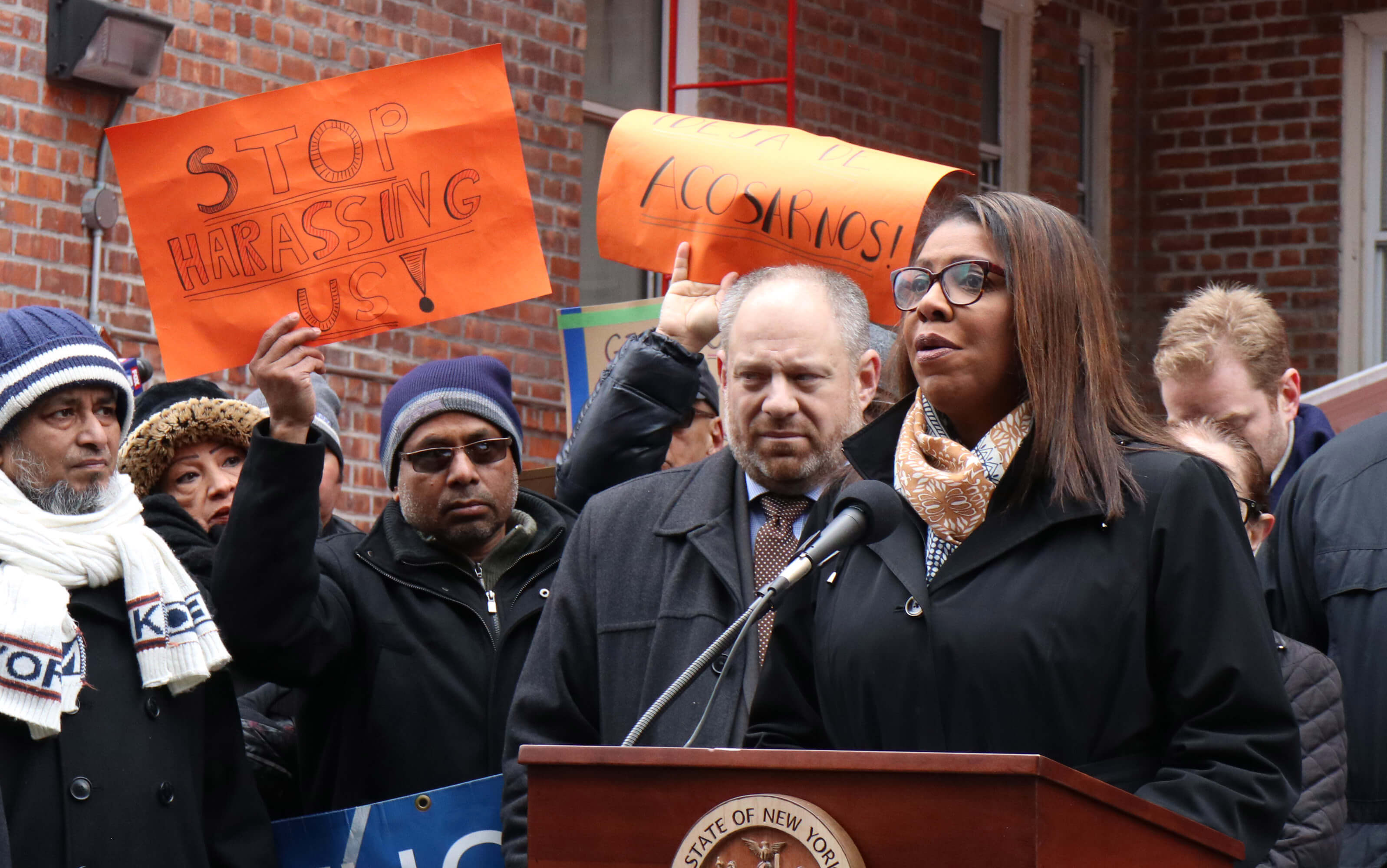 This is a notice to all unscrupulous landlords': James sues Queens