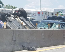 Driver charged for role in a deadly five-car pileup on the Long Island Expressway in Maspeth