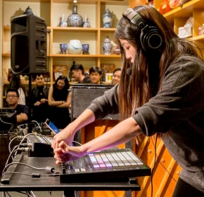 Electronic artist shares her music at a listening party in Flushing on Aug. 24