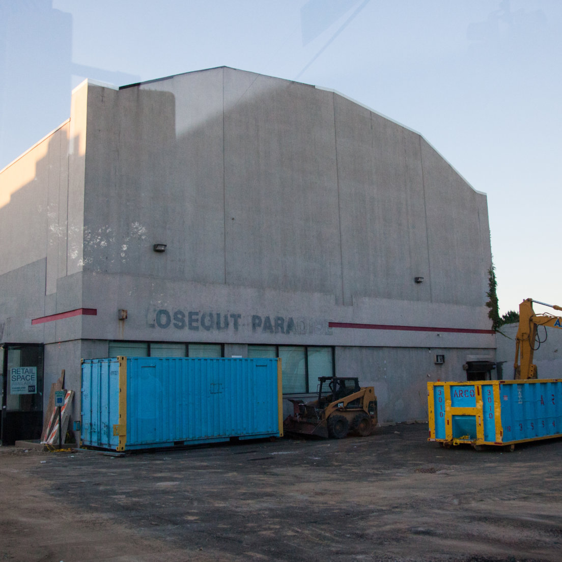 Construction to expand building begins at the vacant Oasis Theater in Ridgewood
