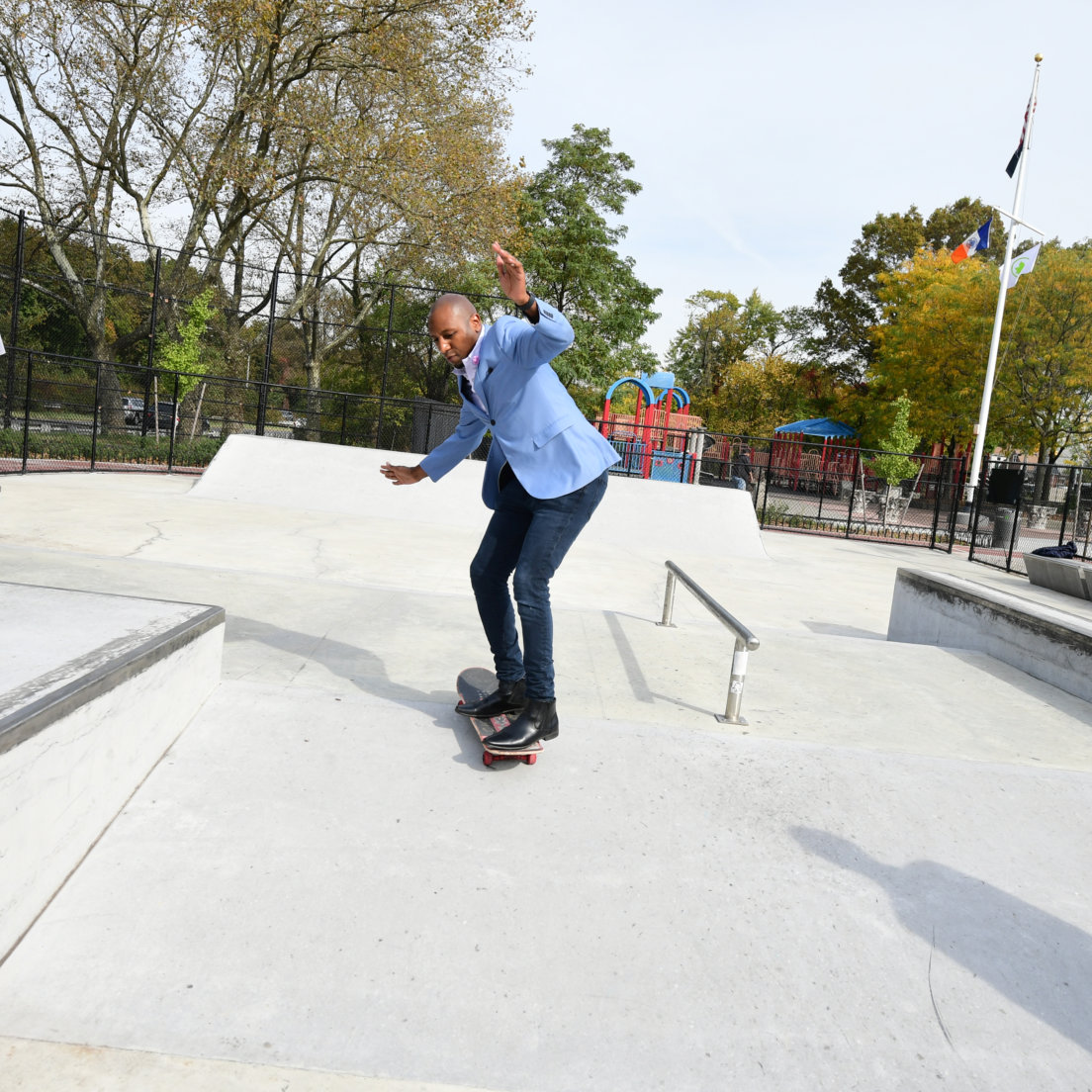 Brand new skate park opens in Laurelton Playground with ribbon-cutting ceremony
