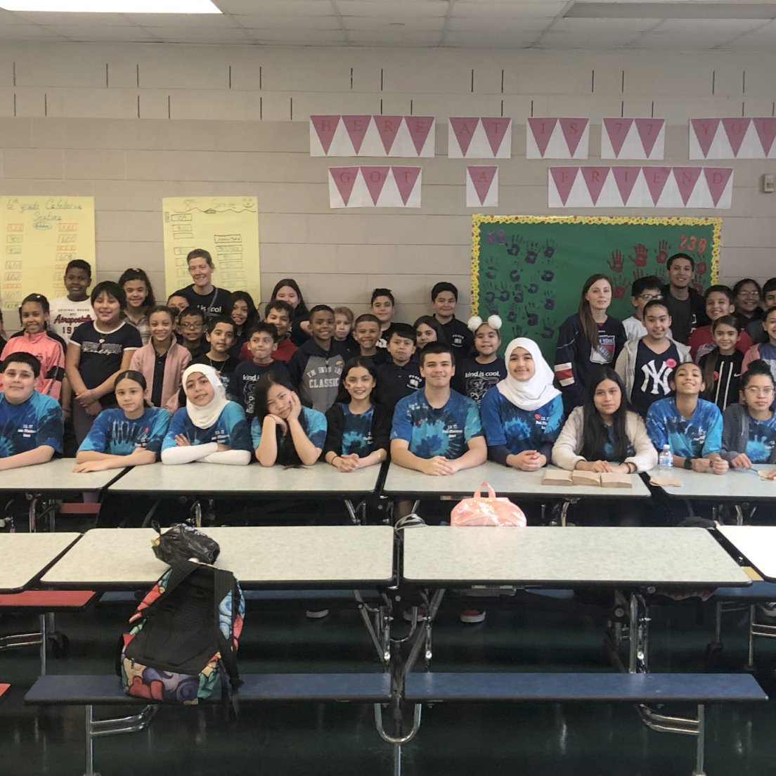 Ridgewood's I.S. 77 brings students from P.S. 68 and P.S. 239 together for No One Eats Alone Day
